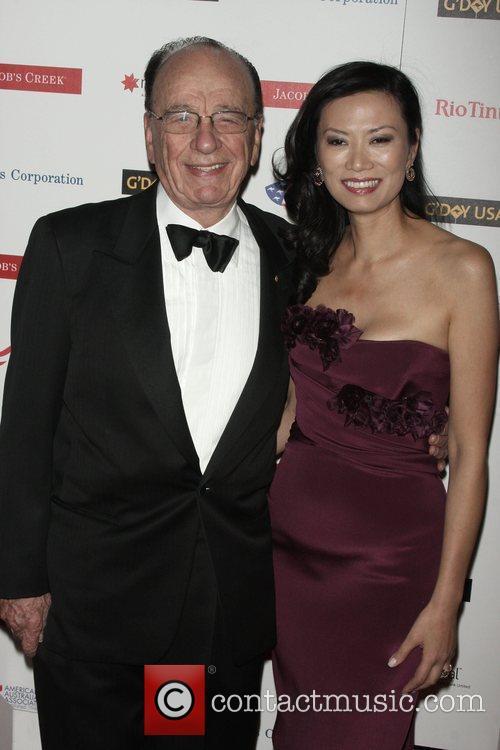 Rupert Murdoch and His Wife Wendi Deng 3