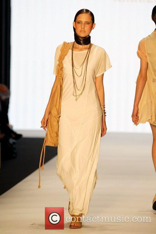 A model wears Kirrily Johnston Australian Fashion Week...
