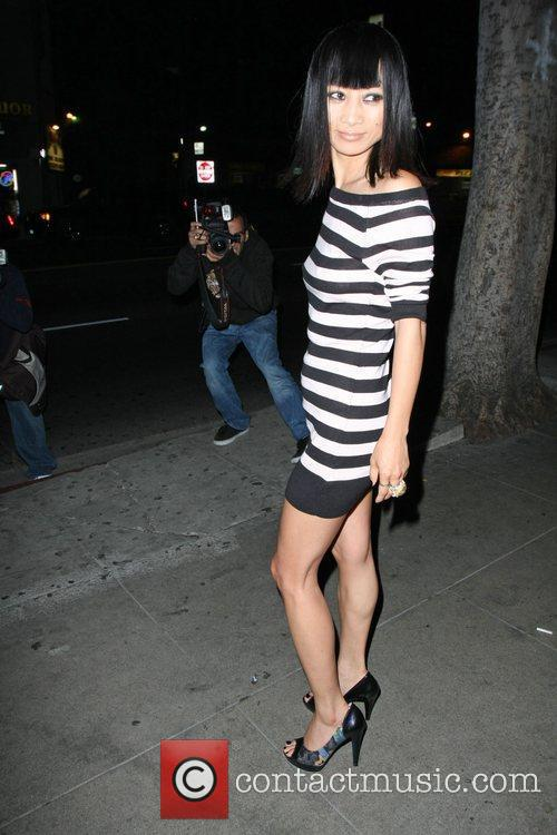 Bai Ling arriving at My House club
