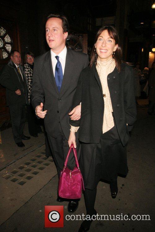 David Cameron and his wife Samantha Cameron Party...