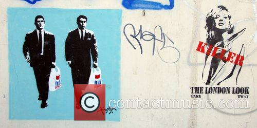A wall in East London, dubbed with stencil...