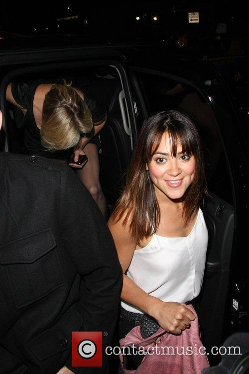 Camille Guaty outside Bar Deluxe Los Angeles, California