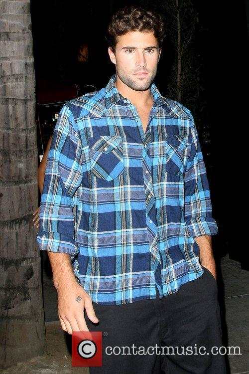Brody Jenner outside Bar Delux with a female...