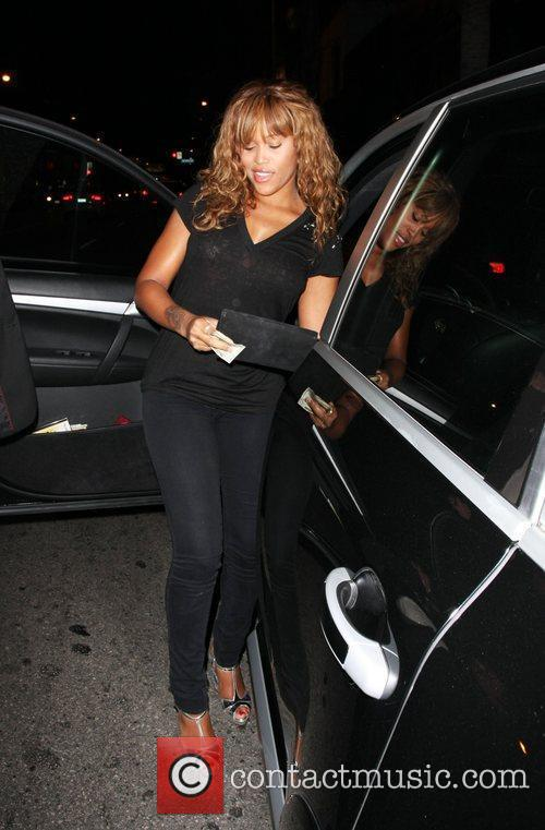 Rapper, Eve leaving Bar Deluxe Los Angeles, California