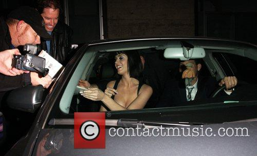 Katy Perry signs autographs whilst leaving Bar Deluxe...