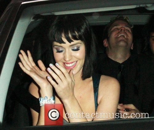 Katy Perry, Perez Hilton leaving Bar Deluxe Los...