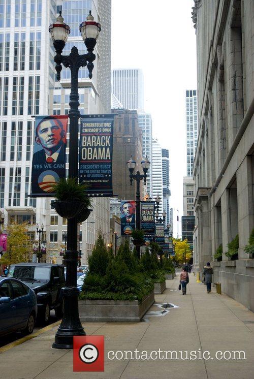 The city of Chicago celebrates President-elect Barack Obama...