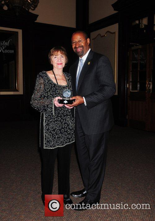 Dolly Beechman Schnall and Mayor Nutter,  The...