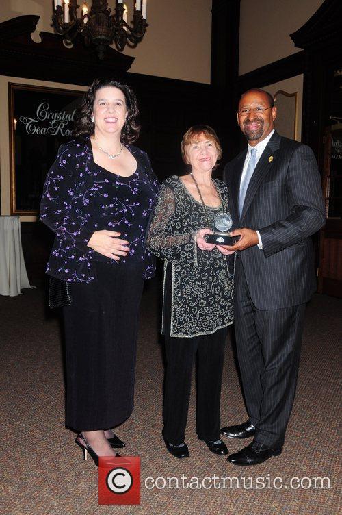 Margie Salvante, Dolly Beechman Schnall and Mayor Nutter,...