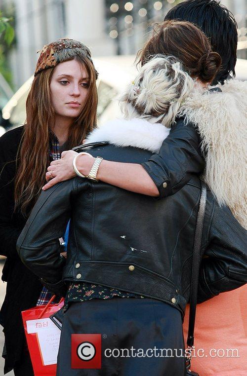 Pixie Geldof and Mischa Barton at the Hawley...