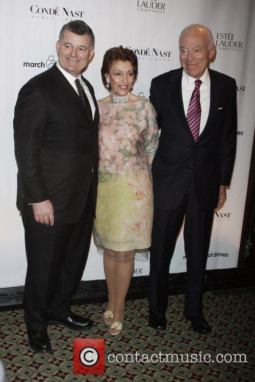 William Lauder, Evelyn Lauder and Ronald Lauder 34th...