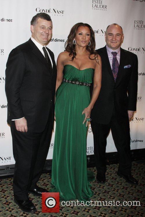 William Lauder, Vanessa Williams and Richard Beckman 34th...