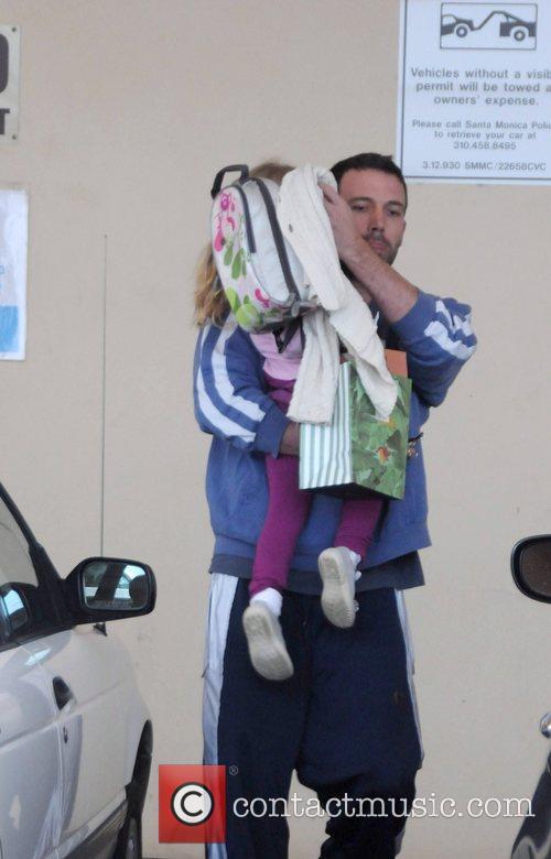 Ben Affleck picks up his daughter, Violet Affleck,...