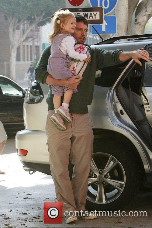 Ben Affleck takes his daughter Violet to school...