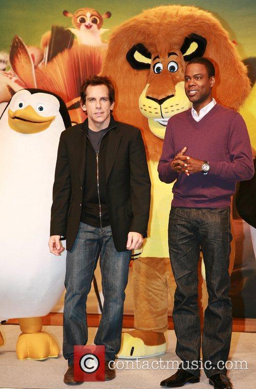 Ben Stiller and Chris Rock attend the 'Madagascar...