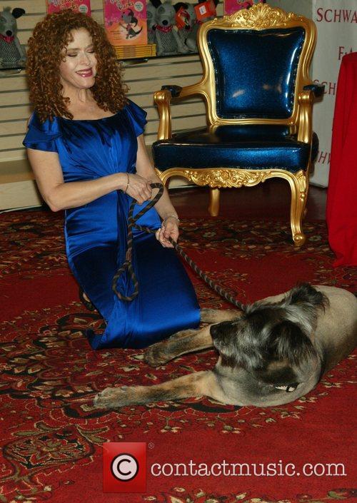 Bernadette Peters and her dog Kramer 8