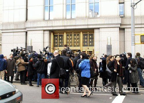 Press The hearing of Bernie Madoff held at...