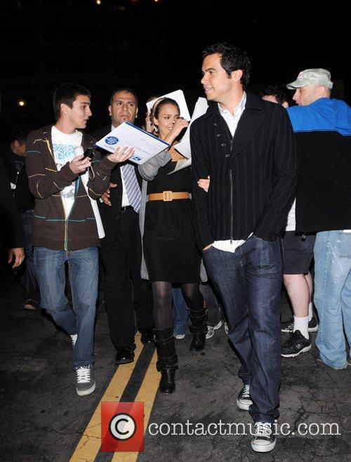Jessica Alba and Cash Warren outside Beso