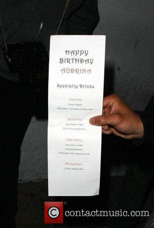 A drinks menu made especially for the birthday...