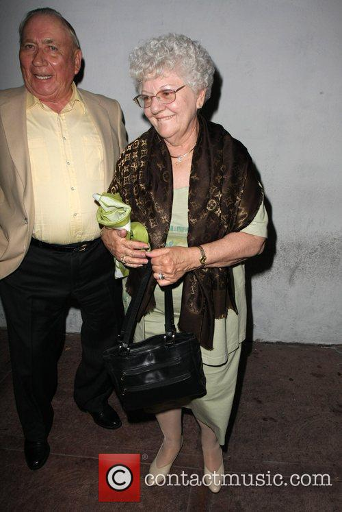 The Grandparents of Audrina Patridge leaving her birthday...