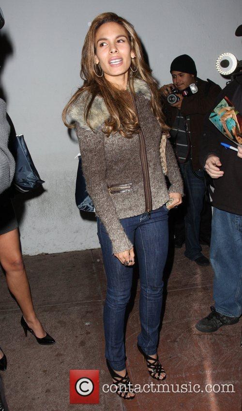 Nadine Velazquez outside Beso restaurant in West Hollywood...
