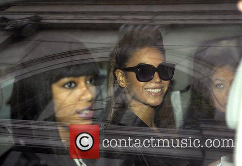 Beyonce Knowles and Solange Knowles leaving their hotel