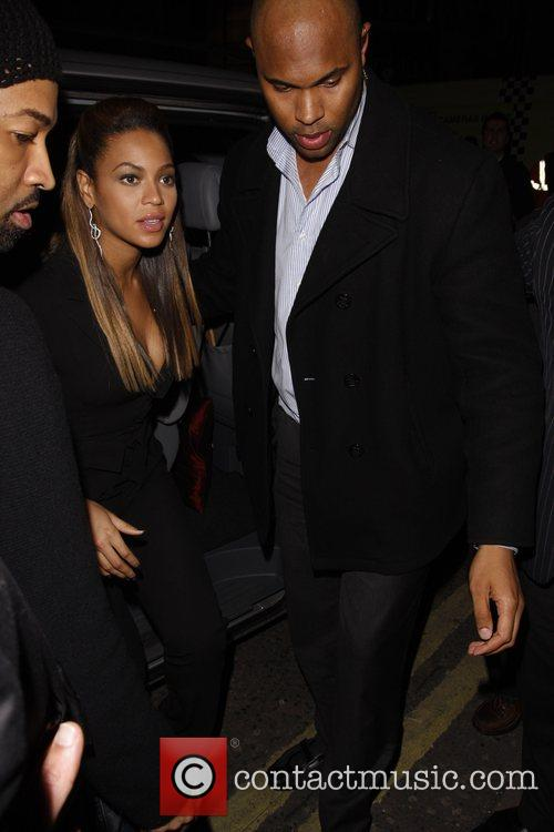 Beyonce Knowles arriving at Movida nightclub London, England