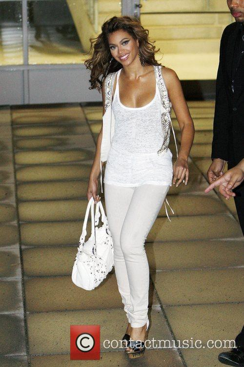 Leaving the O2 World arena after her concert