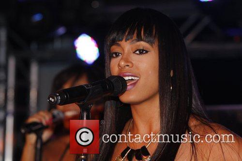 Solange Knowles performing live at the Puro club...