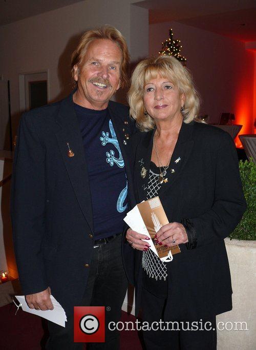 Frank Zander, wife Evi  Beyond Swing party...