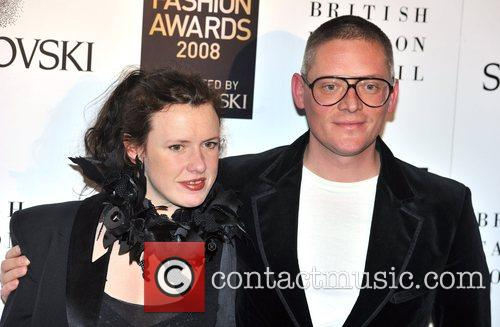 Giles Deacon  British Fashion Awards held at...