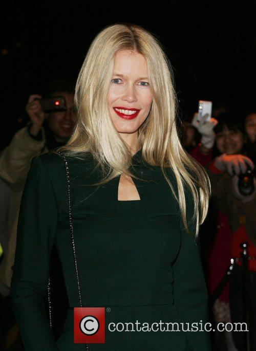 Claudia Schiffer British Fashion Awards - outside arrivals...