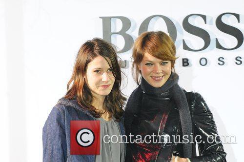 Jessica Schwarz (right) and her friend Inga Boss...