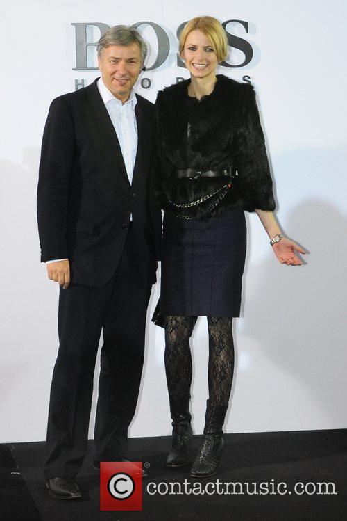 Klaus Wowereit, Eva Padberg Boss Black fashion show...