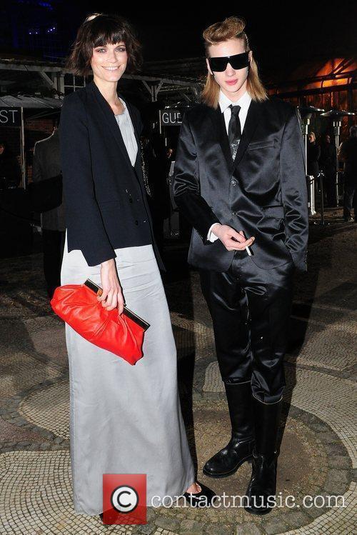 Models Boss Black fashion show by Hugo Boss...