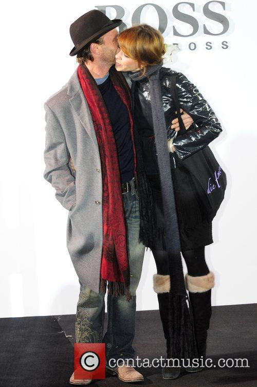Thomas Kretschmann, Jessica Schwarz Boss Black fashion show...