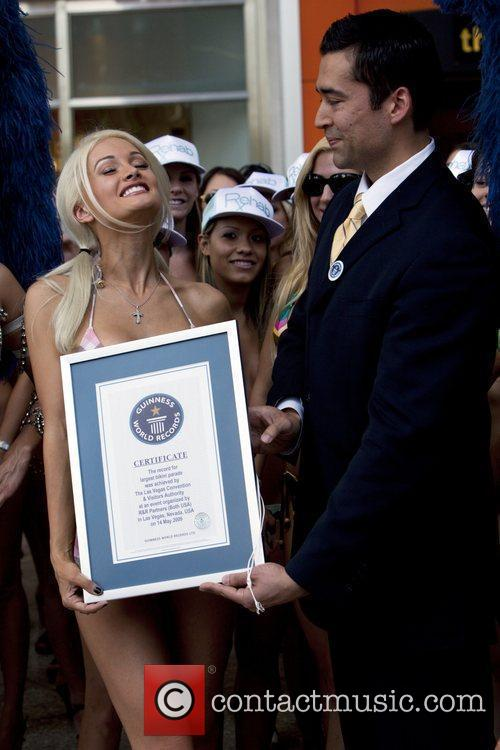 Holly Madison takes part in the world's largest...