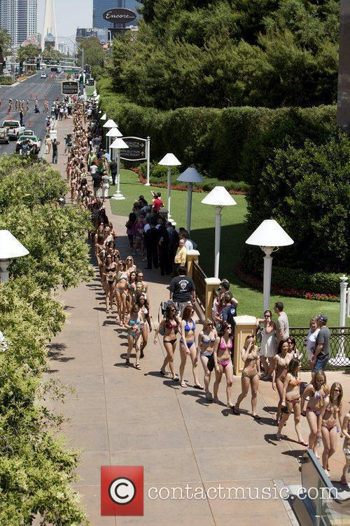 The world's largest bikini parade, breaking a Guinness...