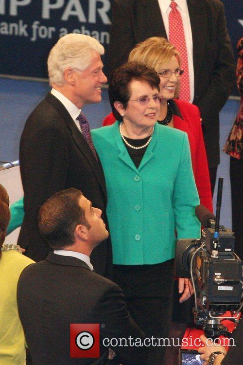 Former President Bill Clinton and Billie Jean King...