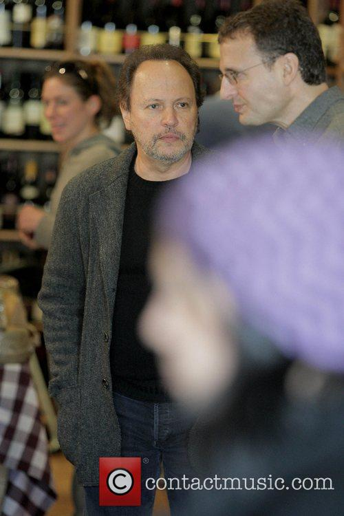 Billy Crystal buys cheese while at The Cheese...