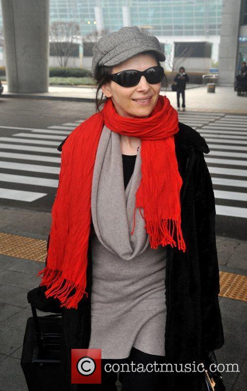 Juliette Binoche arrives at Incheon International Airport...