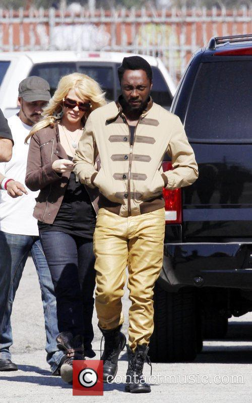 will.i.am at the Black Eyed Peas music video...