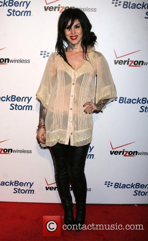 Kat Von D  The Blackberry Storm launch...