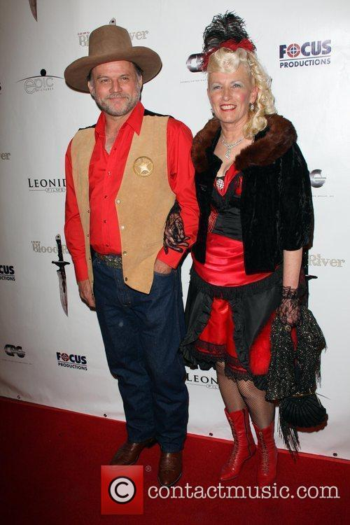 Guests The Los Angeles Premiere of 'Blood River'...