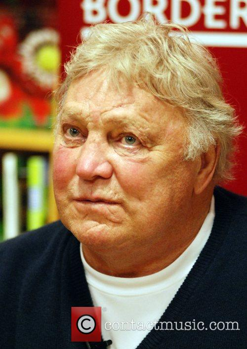 Bobby Hull, retired Canadian ice hockey player signs...
