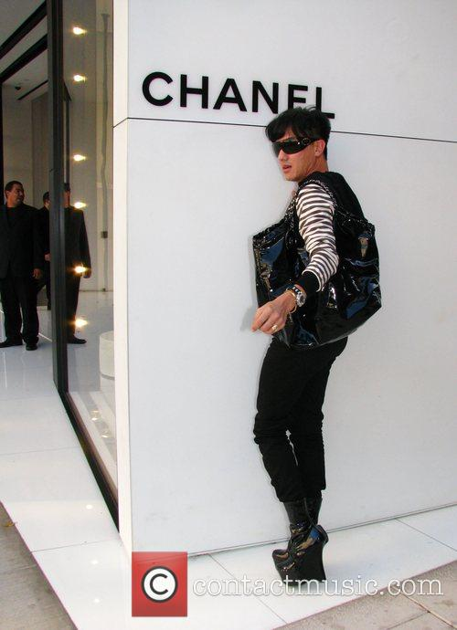 Outside the Chanel boutique on Robertson Boulevard