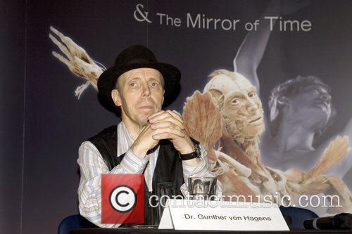 Dr. Gunther von Hagens at the new 'Body...
