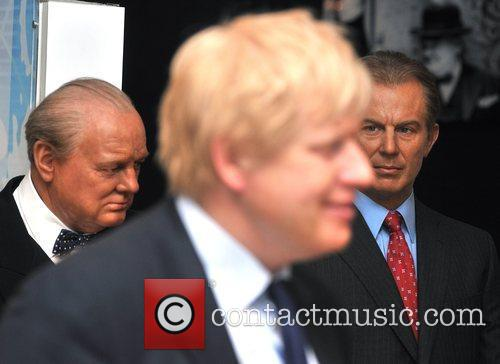 Boris Johnson - waxwork unveiling held at Madame...
