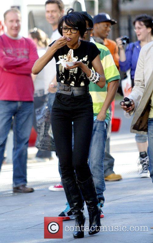 Michelle Williams participates in the Walk Across America...