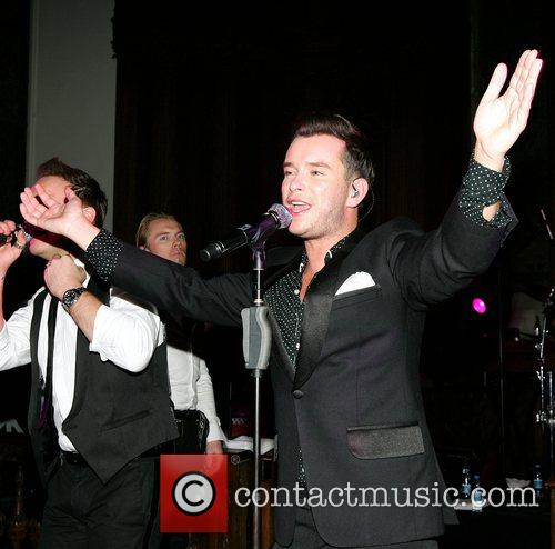 Stephen Gately of Boyzone perform at the annual...